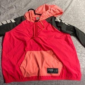 Pink victoria secret rain jacket